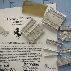 1/12 Ferrari F1 312T Metal Engine Block Kit