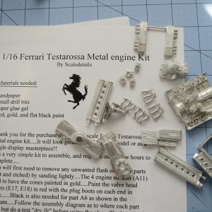 1/16 Ferrari Testarossa Metal Engine Kit