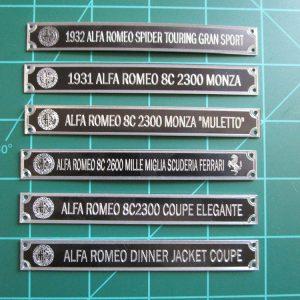 Alfa Romeo Plaques