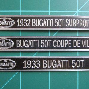 Bugatti Plaques