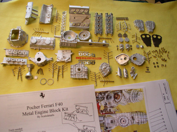 F40 Metal Engine Block Kit