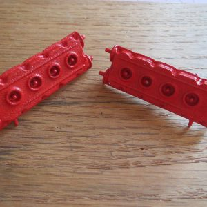 F40 Metal Textured Red Engine Heads