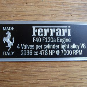 F40 Metal Display Plaque