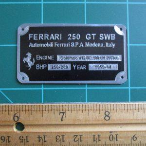 Ferrari 250 SWB Metal Display Plaque