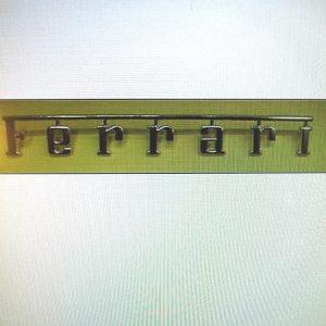 Ferrari Metal Script Emblem