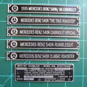 Mercedes Benz Plaques