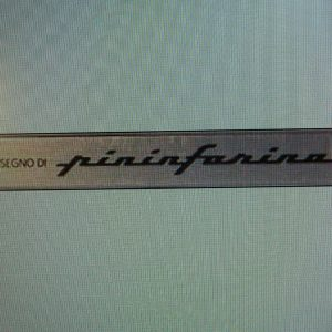 Ferrari Pininfarina Metal Emblems Set
