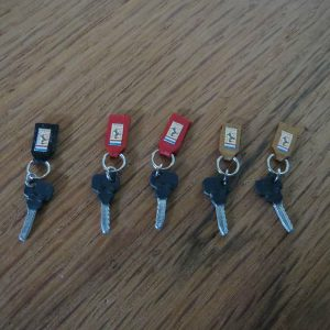 F40 Metal Key With Leather Fob