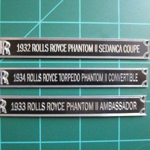 Rolls Royce Plaques