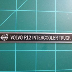Volvo F12 Intercooler Metal Display Plaque