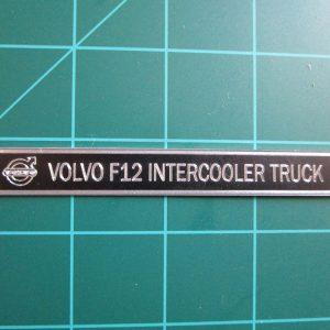 Volvo F12 Intercooler Metal Display Plaque