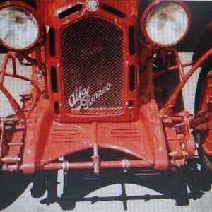 Alfa Romeo Monza And Muletto Radiator Grille With Script Emblem