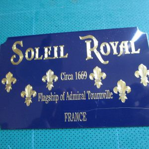 Soleil Royal Ship Metal Display Plaque