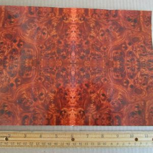 Pocher 1/8 Patterned Walnut Burl Wood Grain Decals NEW For Rolls Royce Bugatti